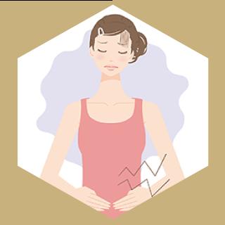 便秘やおなかの膨満感などで困っている女性も骨格の歪みを正すことで症状が抑えられます。